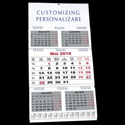 Calendar de perete triptic pliat BUSINESS
